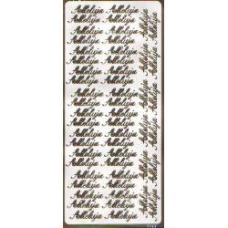 STICKERSY naklejki napisy ALLELUJA kolor złoty i srebrny Szklane zwykłe