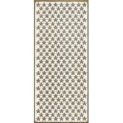 STICKERSY naklejki ażurowe MAŁE GWIAZDKI 528 szt - złoty Drewniane