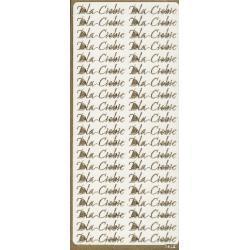STICKERSY NAKLEJKI napis Dla Ciebie- kolor złoty Crackle