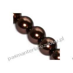 KORALIKI / PEREŁKI SZKLANE 6mm -sznur 80cm 145szt - brąz Igły, szpilki i agrafki