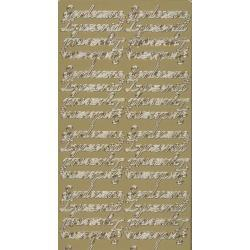 STICKERSY NAKLEJKI - napis SERDECZNE ŻYCZENIA złoty Nici