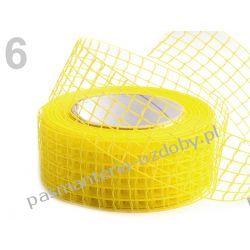 WSTĄŻKA SIATKA HURT- 10 metrów - żółty Wstążki