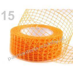 WSTĄŻKA SIATKA HURT- 10 metrów - jasny pomarańczowy Wstążki