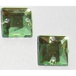 DŻETY kamienie kwadraty do przyszycia 8mm KOLOR OLIWKOWY Dodatki i ozdoby