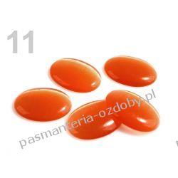 KABOSZON szkło, SUTASZ, 18x25mm KOCIE OKO - pomarańczowy Przedmioty do ozdabiania