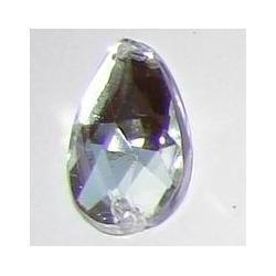 DŻETY kamienie krople do przyszycia 13x8mm kolor srebrny - przezroczysty Włóczki