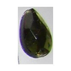 DŻETY kamienie krople do przyszycia 13x8mm kolor zgniła zieleń Nici