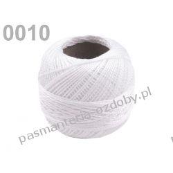 KORDONEK nici Perlovka NITARNA 60x2 10g/85m - biały Włóczki