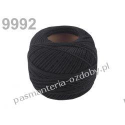 KORDONEK nici Perlovka NITARNA 60x2 10g/85m - czarny Pozostałe