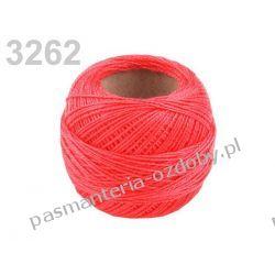 KORDONEK nici Perlovka NITARNA 60x2 10g/85m - jaskrawy czerwony Koraliki i cekiny