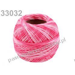 KORDONEK nici Perlovka OMBRE NITARNA 60x2 10g/85m - 33032 cieniowany różowy Rzemyki i sznurek jubilerski