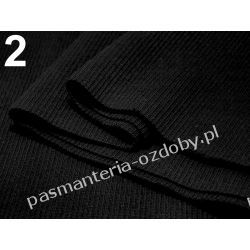 Ściągacz elastyczny bawełna 16x80cm - czarny Zamki i zapięcia