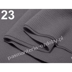 Ściągacz elastyczny bawełna 16x80cm - szary Włóczki