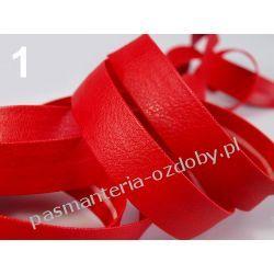 Lamówka skośna sztuczna skóra szer. 15mm - 1 m - czerwona Zamki i zapięcia