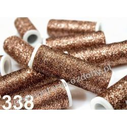 NICI METALIZOWANE METALUX- 60m - jasny brązowy Nici