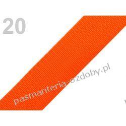 TAŚMA PARCIANA, NOŚNA 30mm (do toreb itp) 1m - pomarańczowa Szklane zwykłe