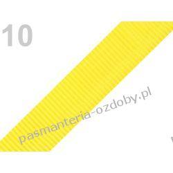 TAŚMA PARCIANA, NOŚNA 25mm (do toreb itp) 1m - żółta Zamki i zapięcia