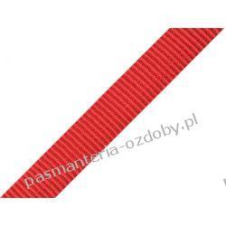 TAŚMA PARCIANA, NOŚNA 20mm (do toreb itp) 1m - czerwona Koraliki i cekiny