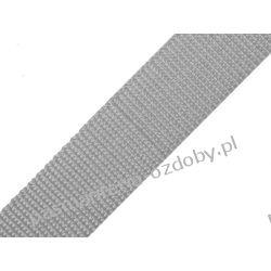 TAŚMA PARCIANA, NOŚNA 40mm (do toreb itp) 1m - szara Włóczki