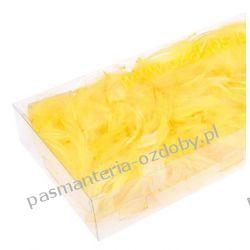PIÓRA, PIÓRKA DEKORACYJNE 10g ok. 200szt - żółte Włóczki