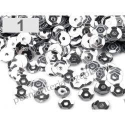CEKINY KOŁA ŁAMANE 6mm 6g (ok 500szt) - srebrny Włóczki