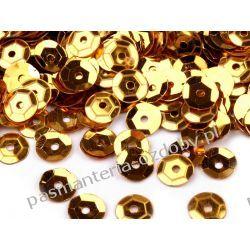 CEKINY KOŁA ŁAMANE 6mm 6g (ok 500szt) - złoty Druty, szydełka i czółenka