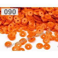 CEKINY KOŁA ŁAMANE 6mm 6g (ok 500szt) - pomarańczowy Nici