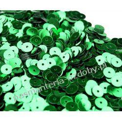CEKINY KOŁA 6mm 6g (ok 600szt) - zielony naturalny