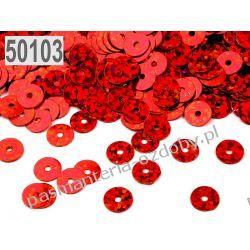 CEKINY KOŁA 6mm 6g (ok 600szt) - czerwony laserowy Pozostałe