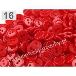 """GUZIKI KOSZULOWE 18"""" (11,4mm) czerwone 10szt Aplikacje"""