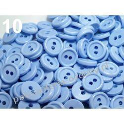 """GUZIKI KOSZULOWE 18"""" (11,4mm) błękitne 10szt Akrylowe"""