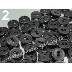 """GUZIKI KOSZULOWE 18"""" (11,4mm) czarne 10szt Nici"""