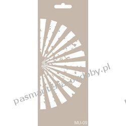 Szablon, Maska Mix Media 10 X 25 cm - MU09 Koraliki i cekiny