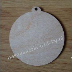 DECOUPAGE BOŻE NARODZENIE BOMBKA SKLEJKA / 8 cm Drewniane