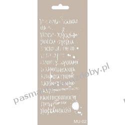 Szablon, Maska Mix Media 10 X 25 cm - MU02 Akrylowe
