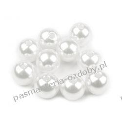 KORALIKI / PEREŁKI 10 mm - 10g - białe Akrylowe