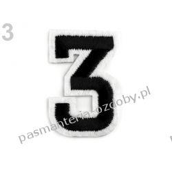 Naprasowanka - cyfra 3 Zamki i zapięcia