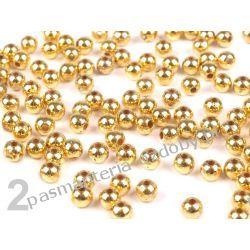 PEREŁKI I KORALIKI 3 mm -opk 4g (ok.350szt) - złoty Rękodzieło