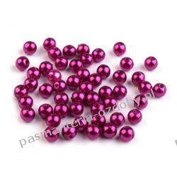 KORALIKI I PEREŁKI 5 mm - opk 7g(około130-135szt) - wrzosowy Biżuteria - półprodukty