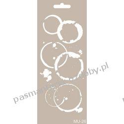 Szablon, Maska Mix Media 10 X 25 cm - MU26 Igły, szpilki i agrafki
