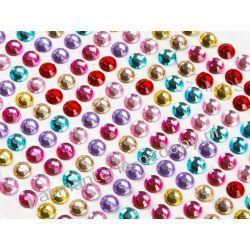 DŻETY Kryształki Kwiatki 8mm Mix Kolorów 120szt Scrapbooking