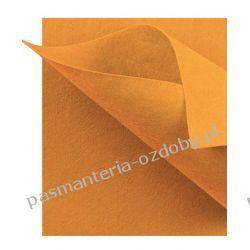 FILC  sztywny - ark.30x40 cm /2mm jasny pomarańcz Filcowanie
