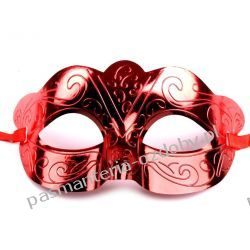 MASKA KARNAWAŁOWA Wz1 - czerwona Przebrania, kostiumy, maski
