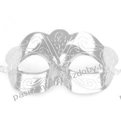 MASKA KARNAWAŁOWA Wz1 - srebrna Przebrania, kostiumy, maski