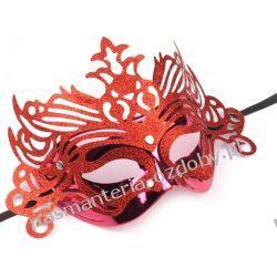 MASKA KARNAWAŁOWA Wind - czerwona Przebrania, kostiumy, maski