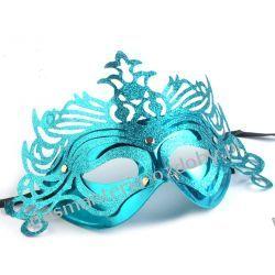 MASKA KARNAWAŁOWA Wind - turkusowa Przebrania, kostiumy, maski