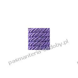 Sznurek skręcany 7mm - 1m - fioletowy Półfabrykaty