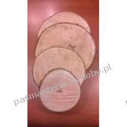 PLASTER DREWNA, KRĄŻEK DREWNIANY 15-18cm/3cm Zamki i zapięcia