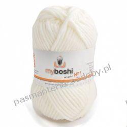 Włóczka MYBOSHI Nr1 wełna+akryl 50g k.191 biały Nici