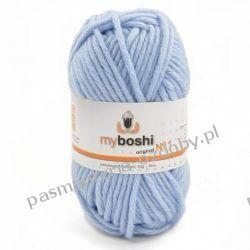 Włóczka MYBOSHI Nr1 wełna+akryl 50g k.156 eisblau (jasny błękit) Włóczki